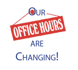 New hours for church office!